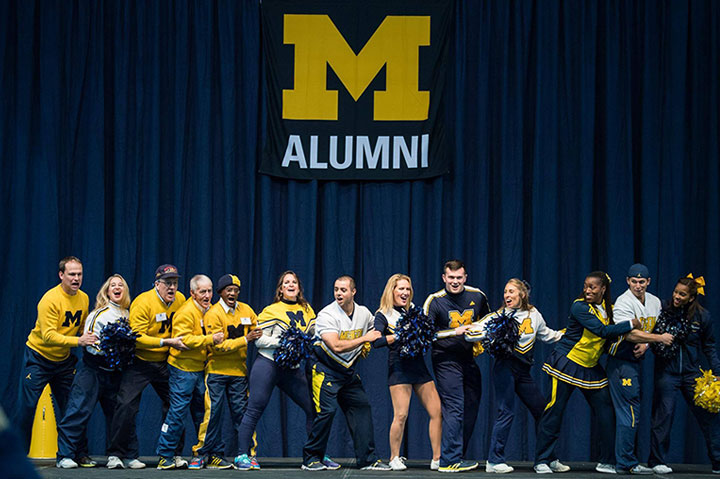 2016 Milestone Reunion Weekend alumni cheerleaders