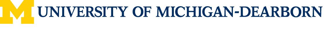 UM-Dearborn Athletics Logo