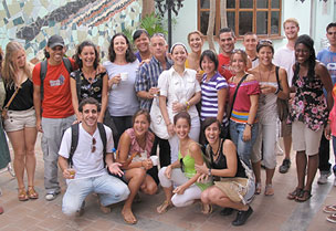 Group of students in Cuba for study abroad